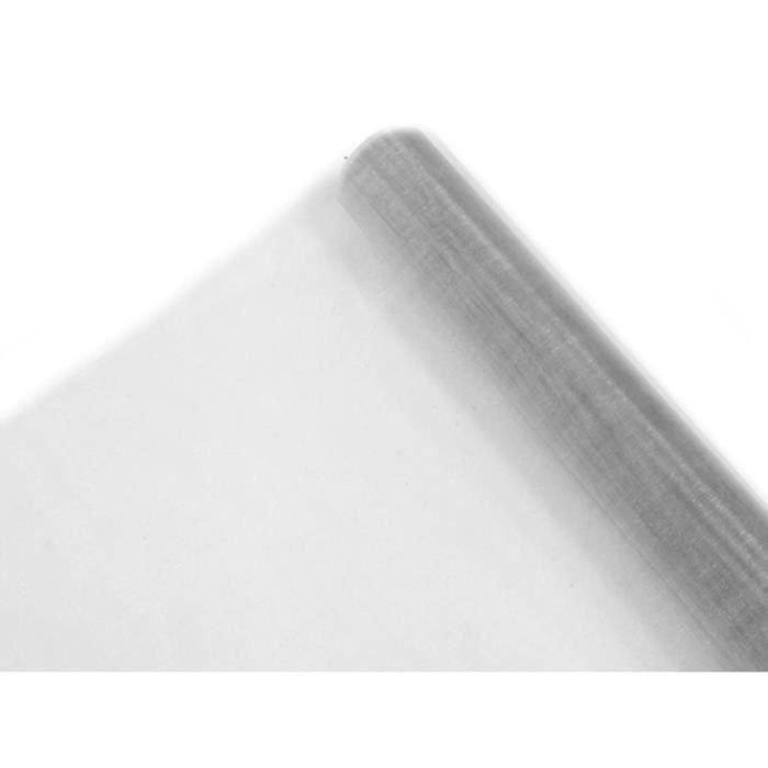 Rouleau organza brillant gris