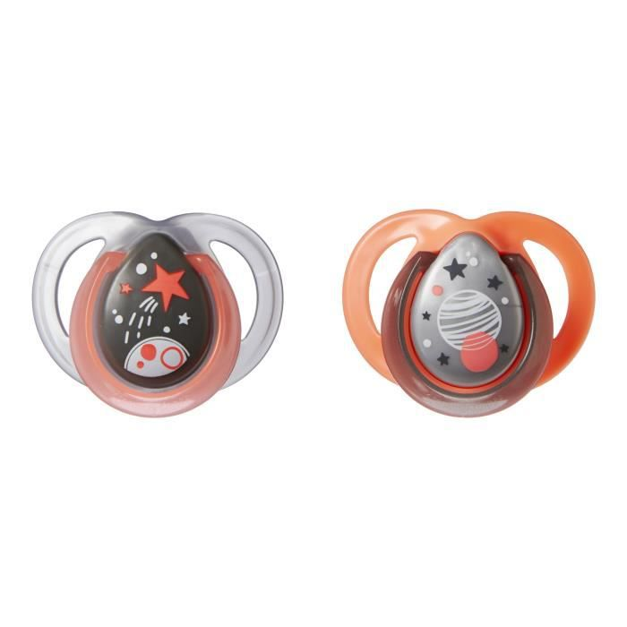 TOMMEE TIPPEE Sucette Night - Lot de 2 - 0 - 6 mois
