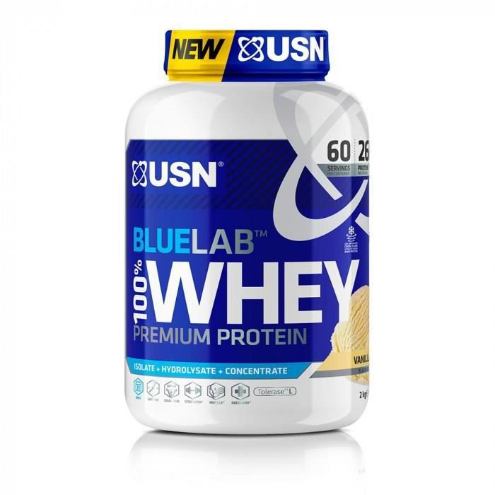 USN Blue Lab Whey Vanille USNBLW13 - Bleu et blanc - 2 kgs