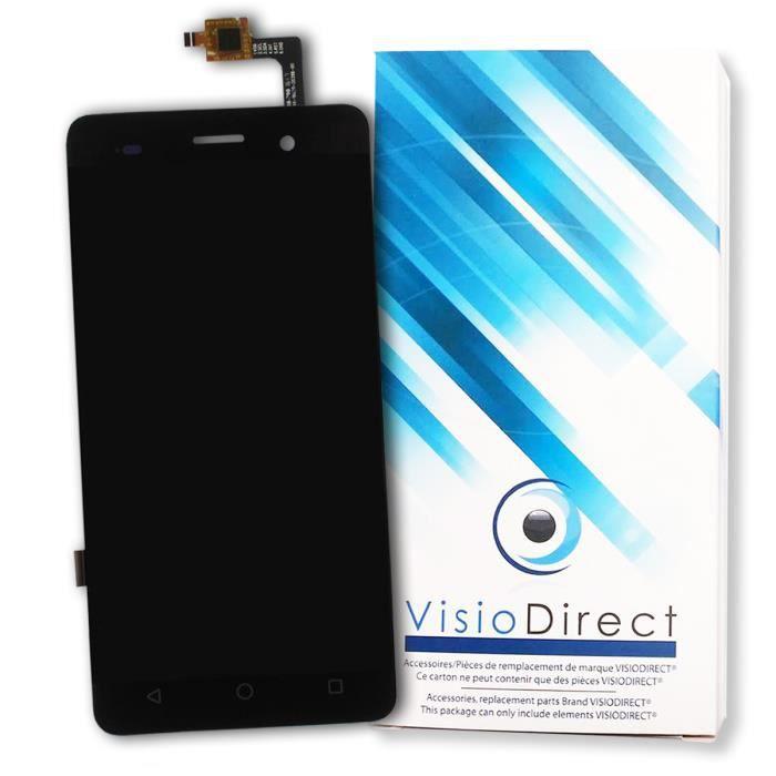 Ecran complet pour Wiko Lenny 3 noir vitre tactile + ecran LCD de telephone portable - Visiodirect -