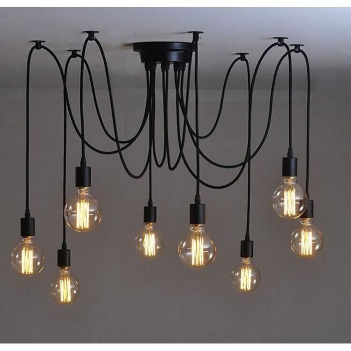ledgle lustre suspension c ble ampoule e27 lampe led. Black Bedroom Furniture Sets. Home Design Ideas