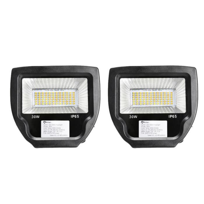 2 anten projecteurs led 30w floodlight lampe spot for Luminaire exterieur ip65