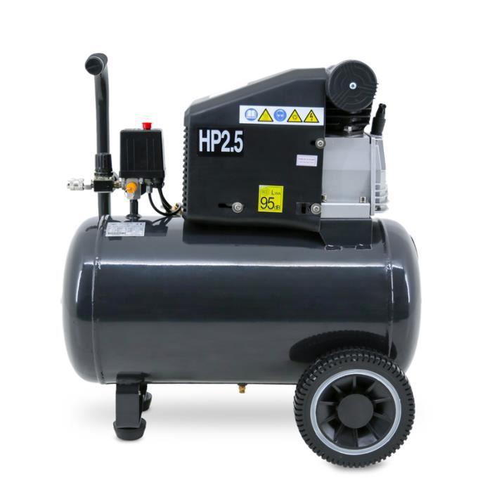 COMPRESSEUR Compresseur 50 litres 2,5 cv 230V horizontal