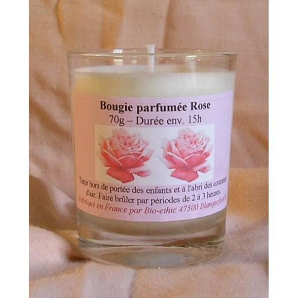bougie parfum e rose 70g achat vente bougie d corative coton cdiscount. Black Bedroom Furniture Sets. Home Design Ideas