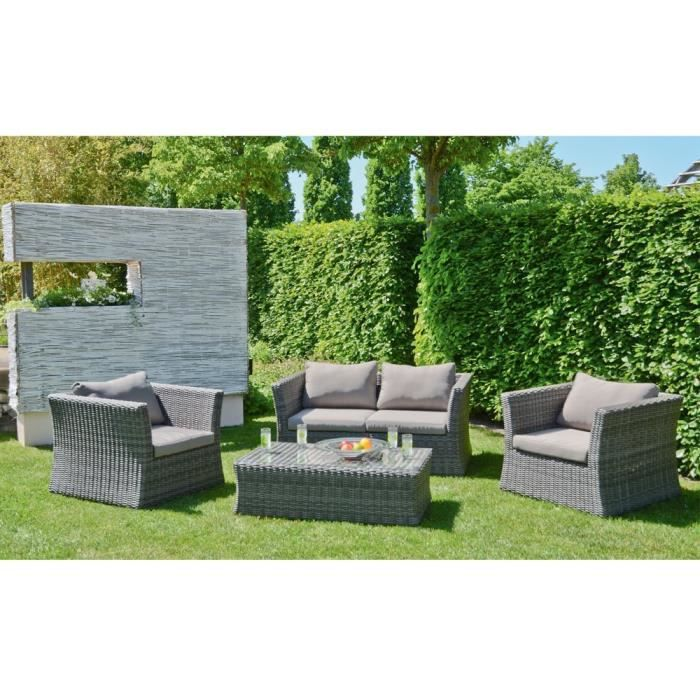 beautiful salon de jardin resine tressee gris cdiscount pictures awesome interior home. Black Bedroom Furniture Sets. Home Design Ideas