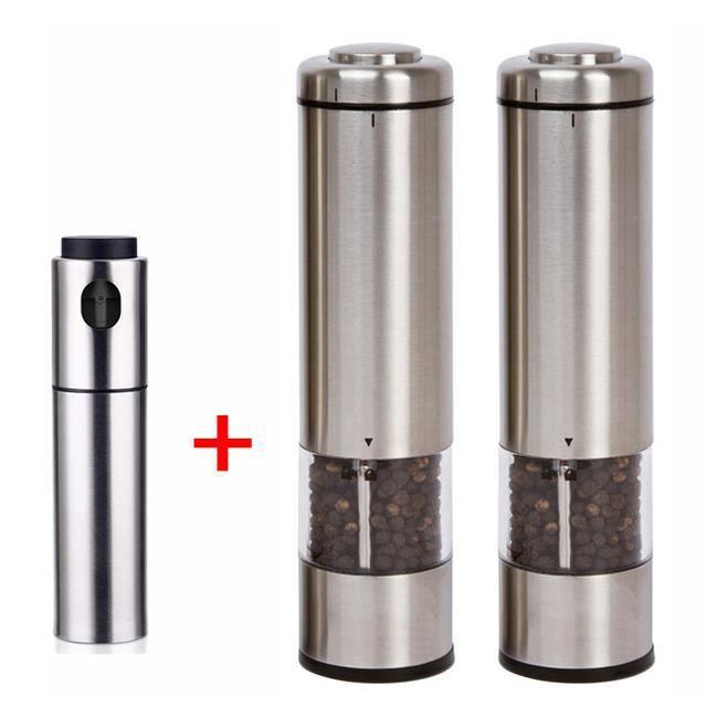 2 en 1 électrique en acier inoxydable manuel double Salt /& Pepper Salt /& Pepper Broyeur