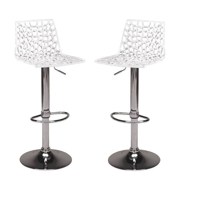 tabourets de bar blanc gamme spider achat vente tabouret de bar blanc cdiscount. Black Bedroom Furniture Sets. Home Design Ideas