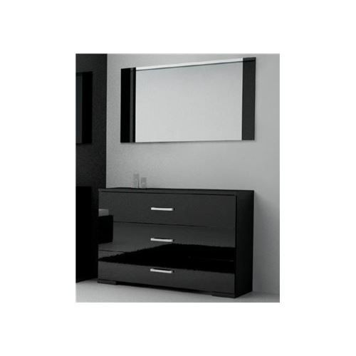 commode roma 3 tiroirs avec miroir achat vente commode de chambre commode roma 3. Black Bedroom Furniture Sets. Home Design Ideas