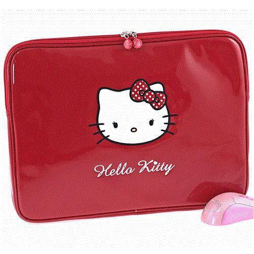 Housse ordinateur portable hello kitty rouge achat for Housse ordinateur