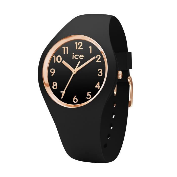 Ice-Watch - ICE glam Black Rose-Gold Numbers - Montre noire pour ... ccc0e49d1b50