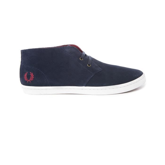 DERBY Fred Perry Byron Mid Hommes Bottes chukka Carbon B