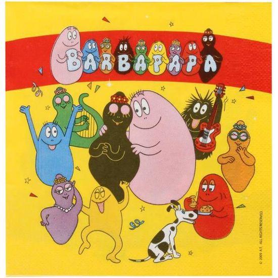 Kit Anniversaire Barbapapa 6 Pers Achat Vente Set Vaisselle Jetable Soldes Cdiscount