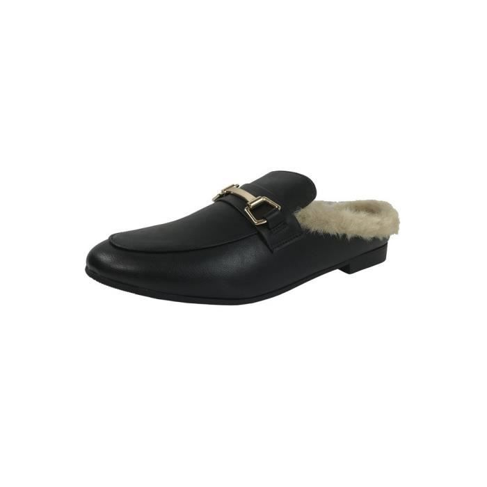 Slip On Mocassins Backless fermé Toe talon bas dos ouvert Mule NP03F Taille-37