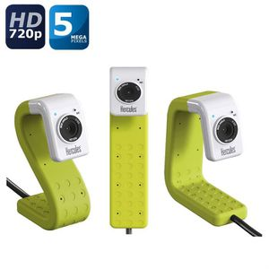 Hercules Webcam HD Twist - Verte