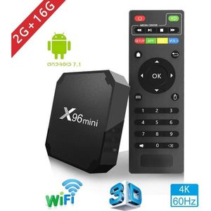 BOX MULTIMEDIA TV BOX X96 MINI - 2Go 16Go - Amlogic S905W Quad Co