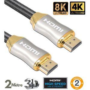 CÂBLE TV - VIDÉO - SON Câble hdmi 2.0 professionnel ultra HD 2160p 4K , 3