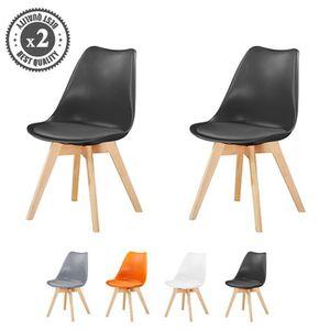 CHAISE Lot De 2 Chaises Du Style Eames scandinave Dsw Cou