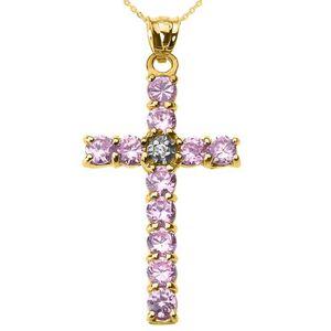SAUTOIR ET COLLIER Collier Femme Pendentif 14 Ct Or Jaune Diamant et