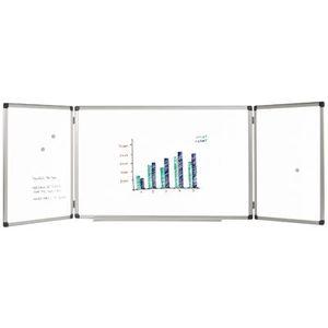 TABLEAU - PAPERBOARD Tableau tryptique blanc émaillé 240 x 90 + auget
