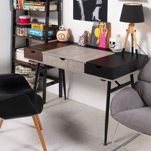 SECRÉTAIRE Bureau Industriel / Bureau design - BODEN - 120 cm