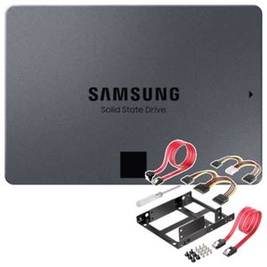 DISQUE DUR SSD SAMSUNG Disque SSD Interne - 860 QVO - 4To + Adapt