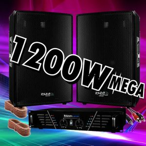 PACK SONO PACK SONO 1200W AVEC AMPLI SONO 960w + 2 ENCEINTES