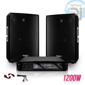 PACK SONO Pack SONO DJ enceintes 1200W DISCO12 + Ampli MyDj