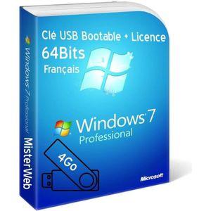 CLÉ USB Clé USB Bootable Windows 7 Pro 64 Bit