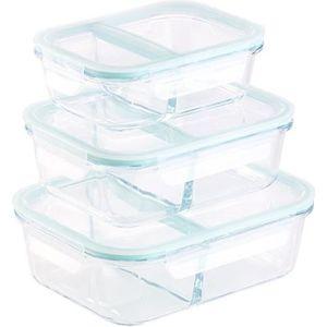 BOITES DE CONSERVATION Boîtes de conservation en verre à 2 compartiments