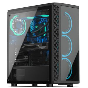 UNITÉ CENTRALE  PC Gamer, Intel i7, RX 5700 XT, 1 To SSD, 3 To HDD
