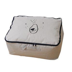 HOUSSE DE RANGEMENT Coton Tissu Sacs de Rangement avec Poignée Poussiè