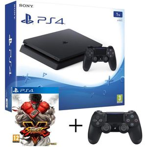CONSOLE PS4 PS4 Slim 1to + manette NOIR + STREET FIGHTER V