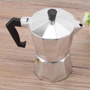 CAFETIÈRE 100ml 2cups Cafetière d'espresso de moka en alumin
