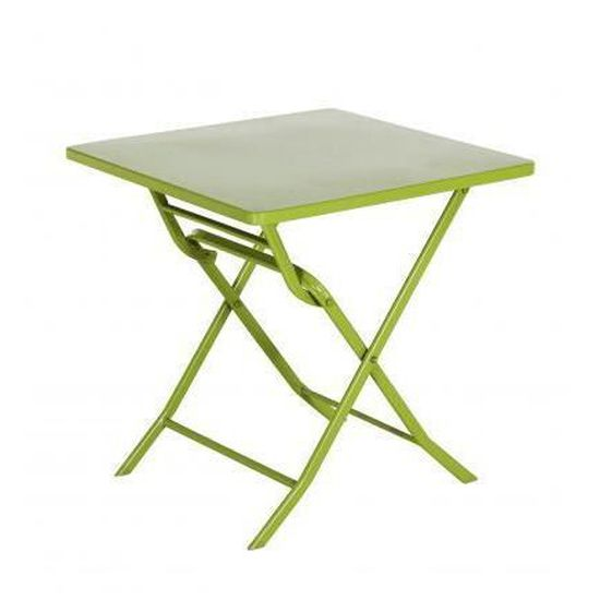 Table de Jardin pliante Verte - Achat / Vente table de ...