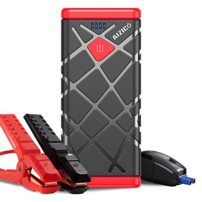 AIZICO A11 Jump Starter Démarreur de Batterie de Voiture Bloc D'alimentation de Démarreur de Saut 12800mAh Avec Charge Rapide USB
