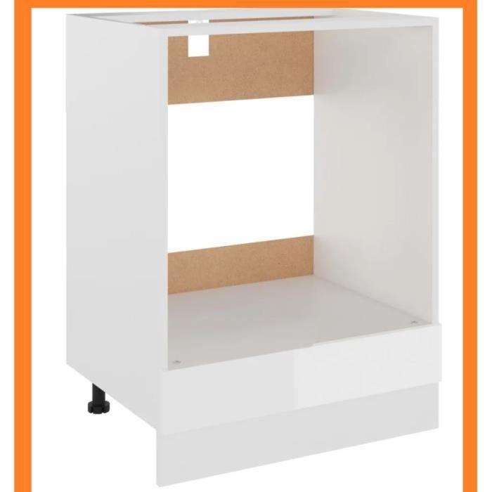 Meuble de cuisine pour four encastrable blanc 60 x 46 x 81,5 cm Aggloméré
