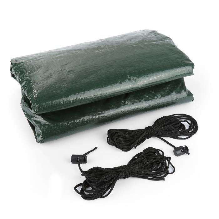 Housse de protection large pour table de jardin 180*82*135cm Vert