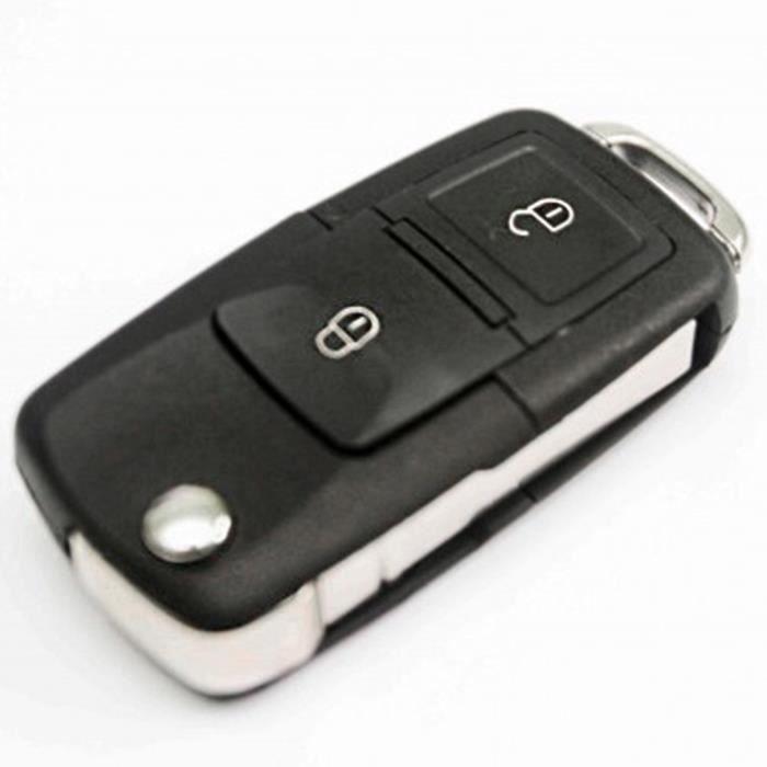 2 Bouton Coque Clé Télécommande de voiture Case plié pour VW Passat Volkswagen Polo Golf Jetta Bora