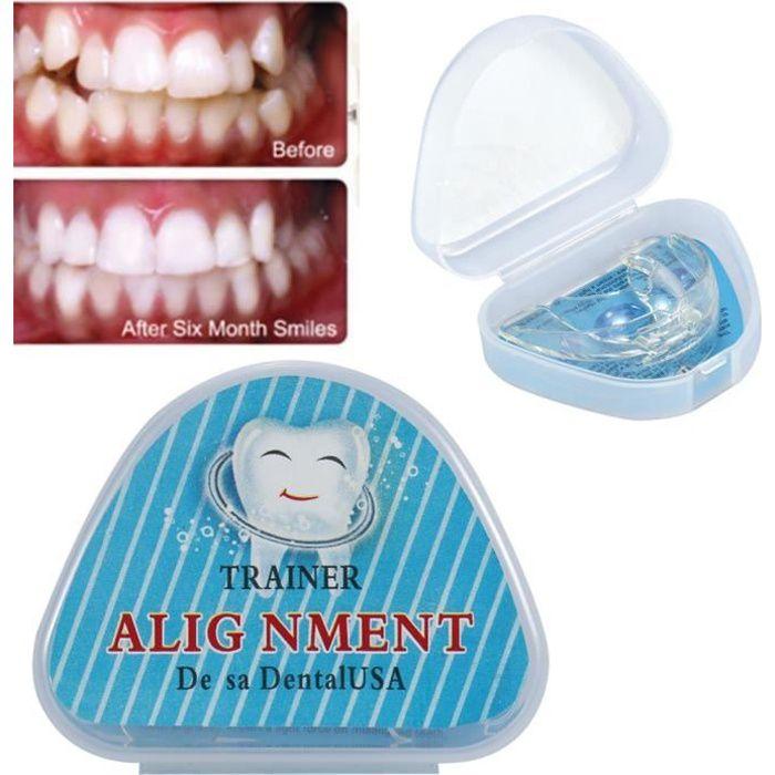 Gouttière d'Alignement Dentaire en Silicone Orthodontie - Correcteur de Contention Orthodontique - Transparent HB011 -JUN