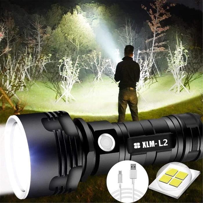 LAMPE ELECTRIQUE 30000-100000 Lumens Grande Lampe De Poche LED Haute Puissance XHP70 &eacutetanche, Lampe De Poche Rechargeable173