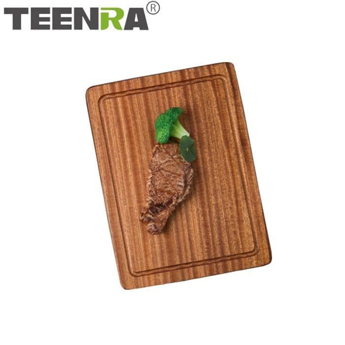 Planche à découper,TEENRA planche à découper en bois massif antidérapant cuisine planche à découper légumes viande - Type 30CM