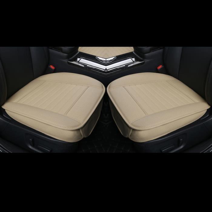 2pcs housses de siège de voiture en cuir PU protection de siège avant Housses de siège de voiture inférieures enveloppantes