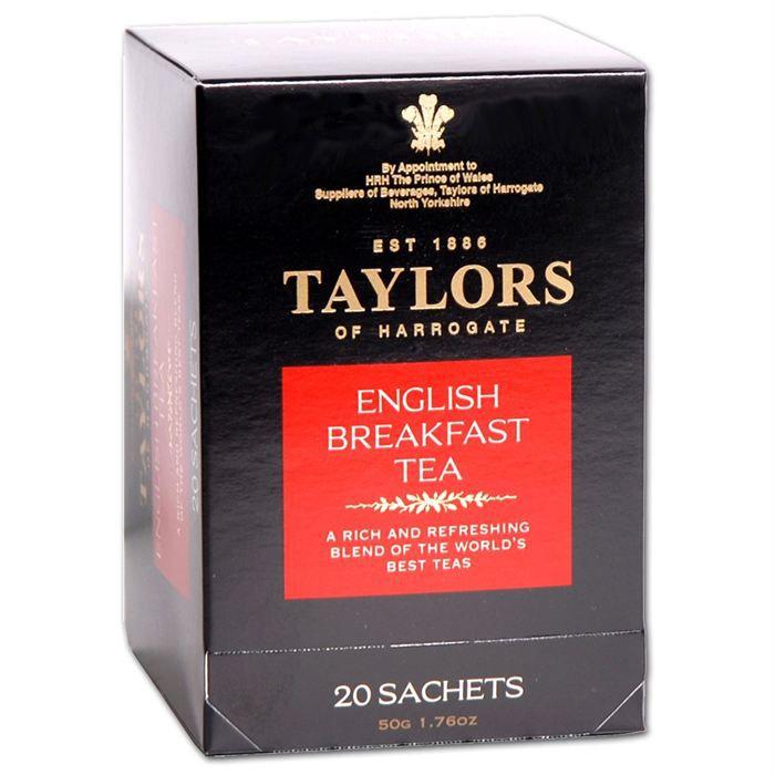 Thé Taylors of H. English Breakfast 20 sachets
