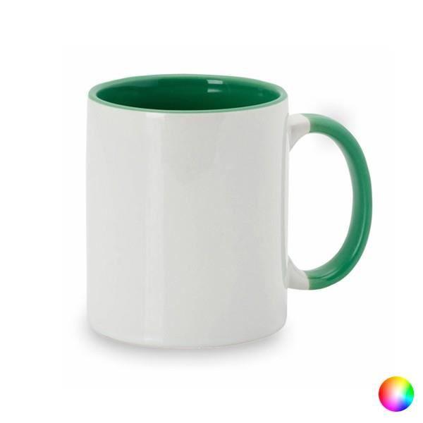 Mug en céramique bicolore (350 ml) - Tasse à café et thé Couleur - Orange