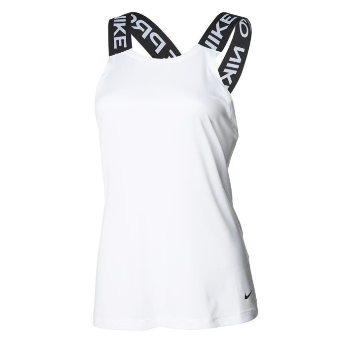 NIKE T-Shirt NP Dry Elastika Tank ESS - Femme - Blanc