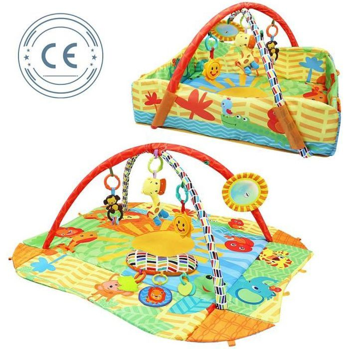 Tapis de Jeux pour Bébé, Tapis d'Éveil pour Enfants, Modèle Animaux du monde, Standards-Certifications: CE, ROHS