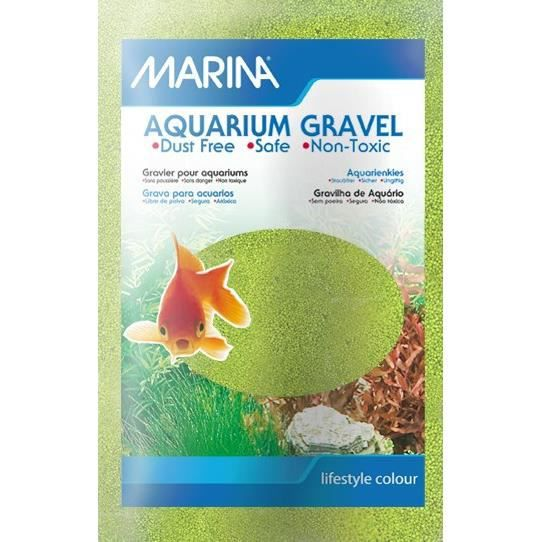MARINA Sable microbille - 1 kg - Vert anis - Pour aquarium
