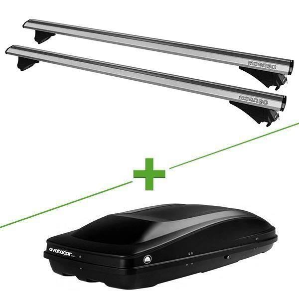 Pack barres et coffre de toit MBO Leopard + Wabb L pour Volkswagen Polo V 5 portes - 3665597013733