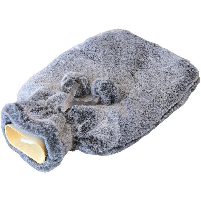 MONDEX Bouillotte 55% caoutchouc avec housse fourrure - 175 cl