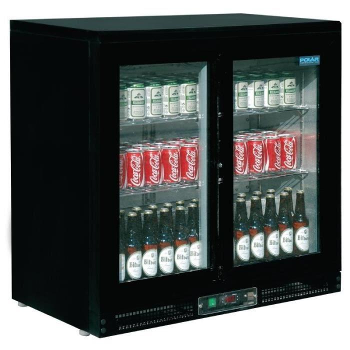 Arrière-bar 168 bouteilles 2 portes coulissantes